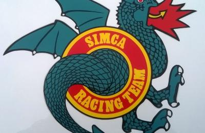 autocollant sticker simca racing team srt dragon diam tre 10 30 cms rallye 1 2 3 ti. Black Bedroom Furniture Sets. Home Design Ideas