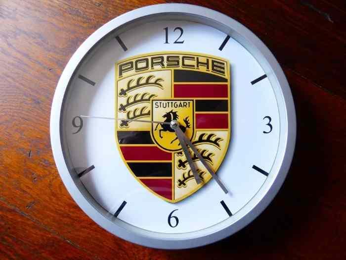 porsche pendule murale horloge 20cms 911 993 996 997 964 356 991 935 circuit rs pi ces et. Black Bedroom Furniture Sets. Home Design Ideas