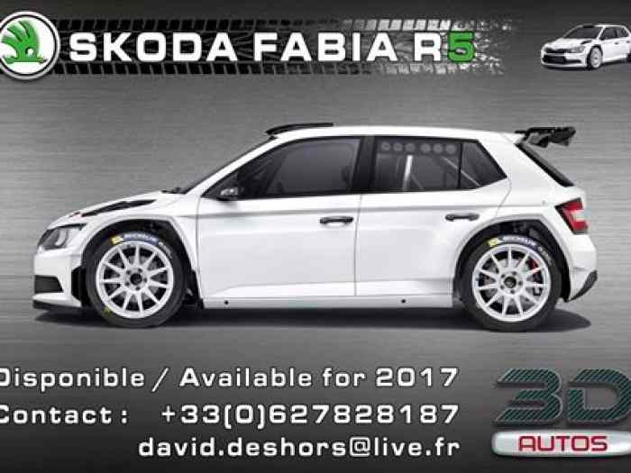 3d autos loue skoda fabia r5 pi ces et voitures de course vendre de rallye et de circuit. Black Bedroom Furniture Sets. Home Design Ideas