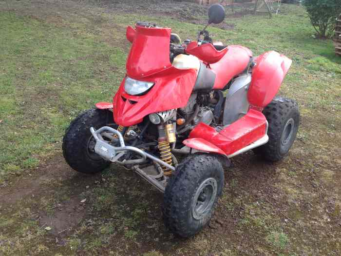 Quad DS 650 preparation rallye raid