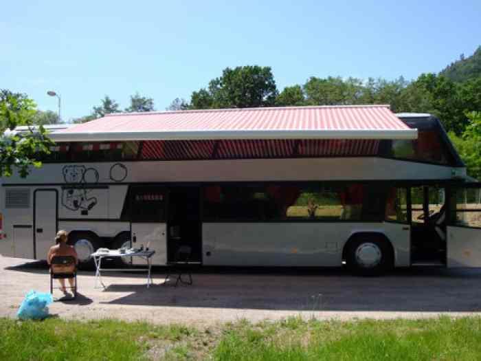 motorhome bus amenage full option. Black Bedroom Furniture Sets. Home Design Ideas